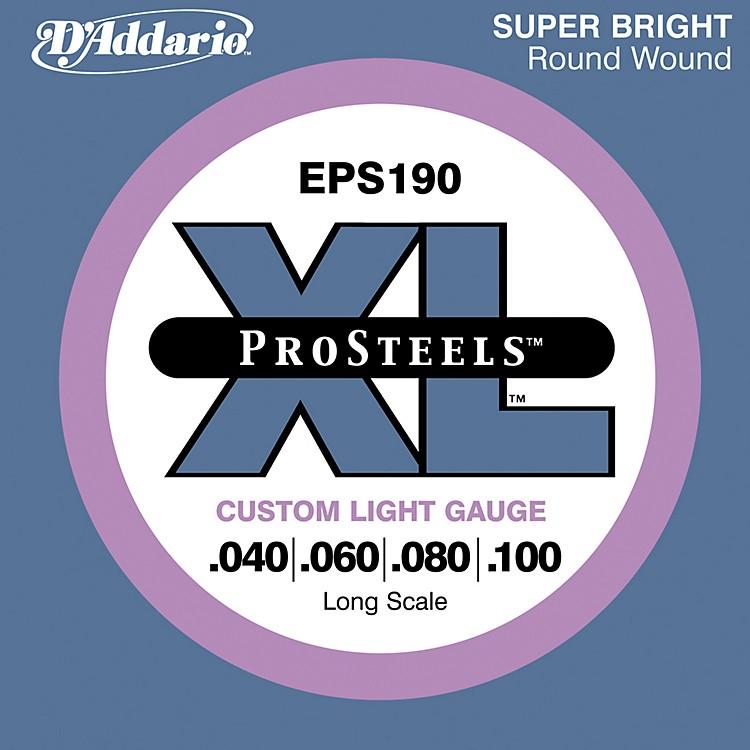 D'AddarioProSteels EPS190 Custom Light Long Scale Bass Strings