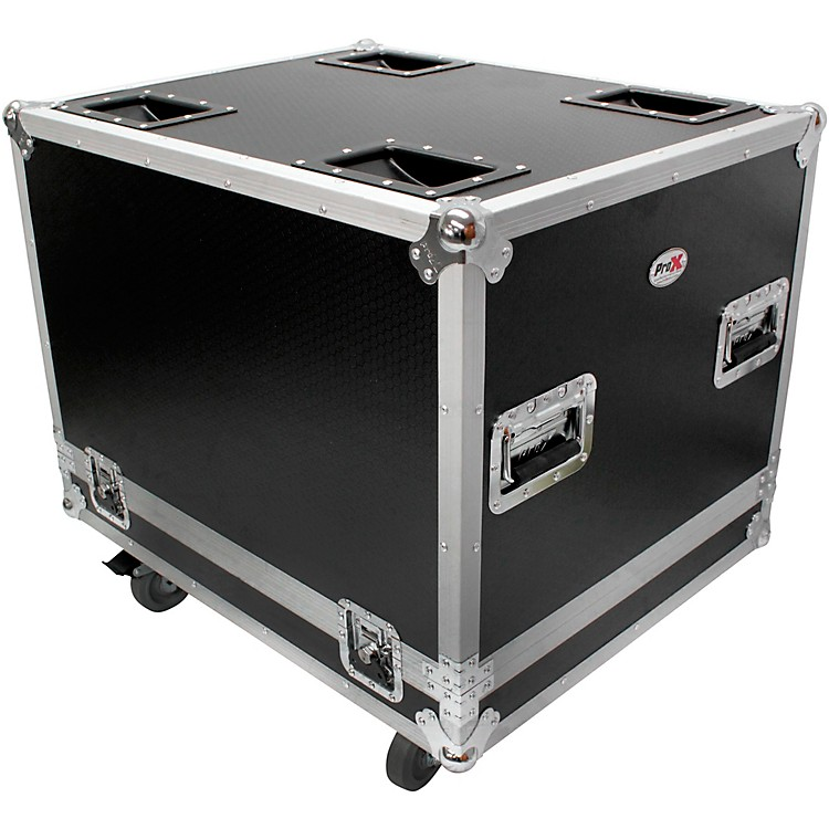ProXProX X-RCF-SUB8004AS RCF SUB 8004-AS Subwoofer Flight Case W/4 Inch Wheels