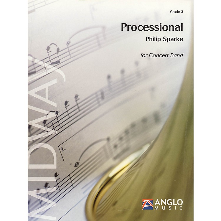 Anglo Music Press Processional (Grade 3 - Score Only) Concert Band Level 3 Composed by Philip Sparke
