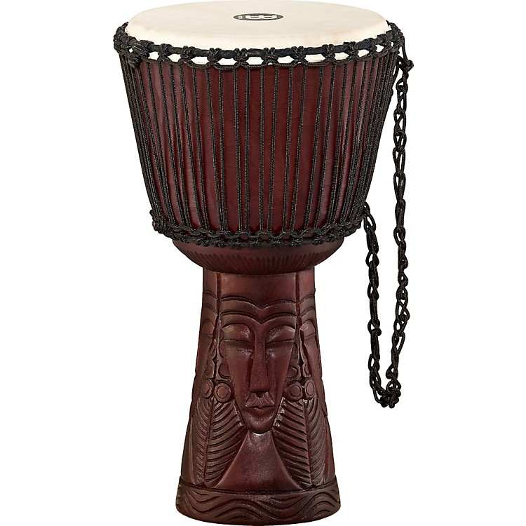 MeinlProfessional African Style DjembeAfrican Queen Carving12 in.