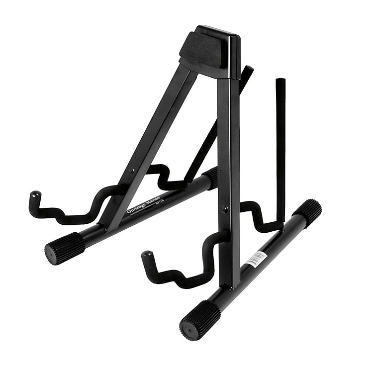 On-Stage Professional Double A-Frame Guitar Stand Black
