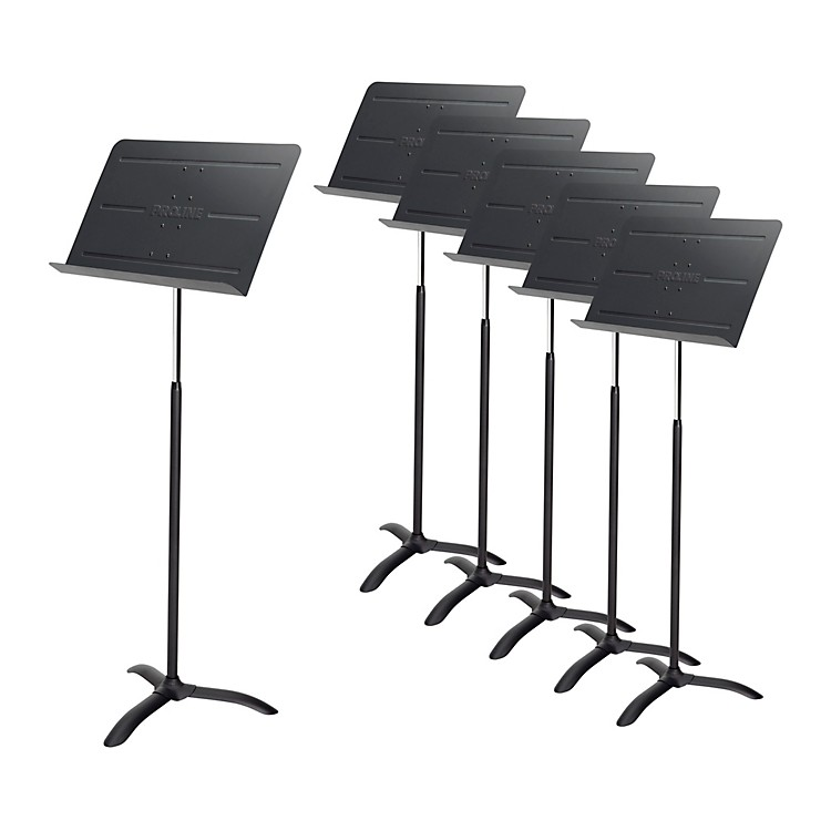 ProlineProfessional Orchestral Music Stand Black - 6-Pack