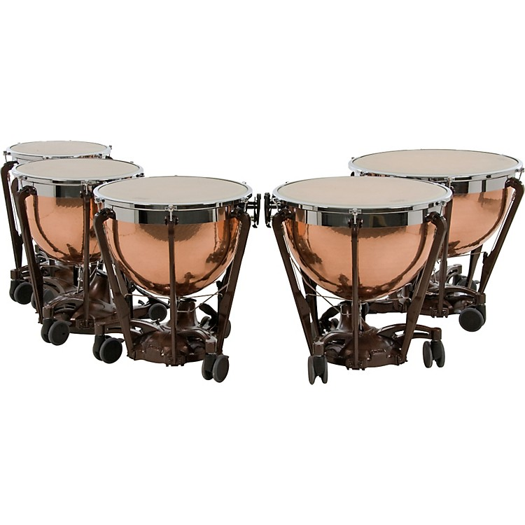 AdamsProfessional Series Generation II Hammered Copper Timpani, Set of 5