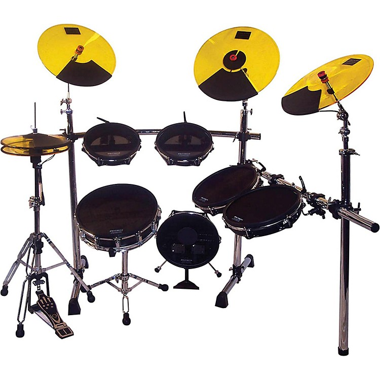 Pintech Professional Series Road Pro Kit Black Yellow Cymbals