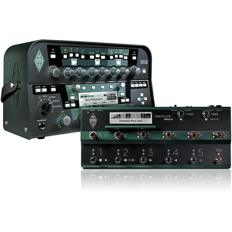 Kemper Profiler PowerHead 600W Guitar Head + Remote Bundle.