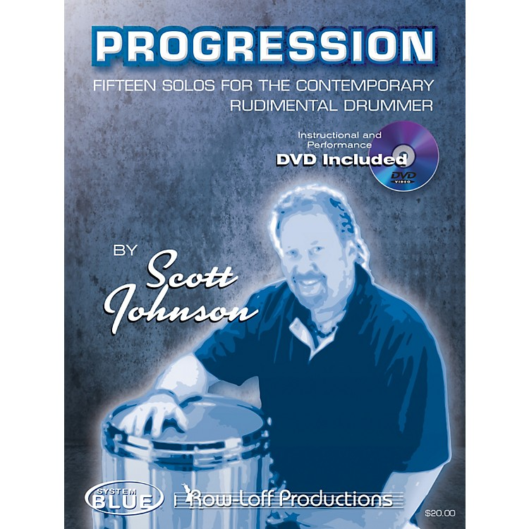 Row-Loff Progression Fifteen Solos for the Contemporary Rudimentary Drummer Book