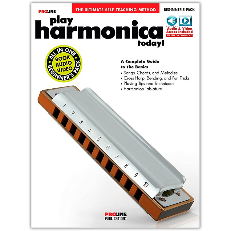 Proline Proline Play Harmonica Today Beginner's Pack Book/Audio & Video Online
