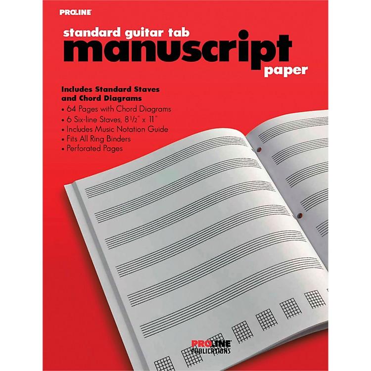 ProlineProline Standard Guitar Tablature Manuscript Paper Pad