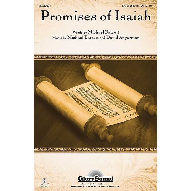 Shawnee PressPromises of Isaiah SATB WITH FLUTE (OR C-INST) composed by Michael Barrett