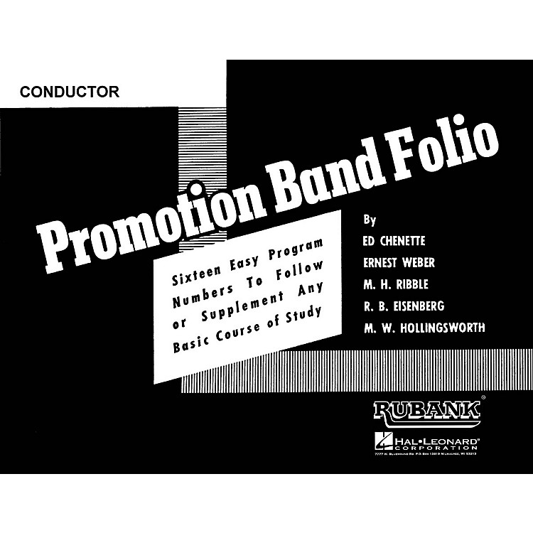 Rubank PublicationsPromotion Band Folio (1st Alto Saxophone) Concert Band Level 2-3 Composed by Various