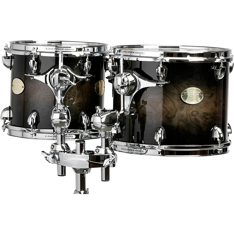 Majestic Prophonic Series Double-Headed Concert Tom 16 x 14 in. Black Dawn