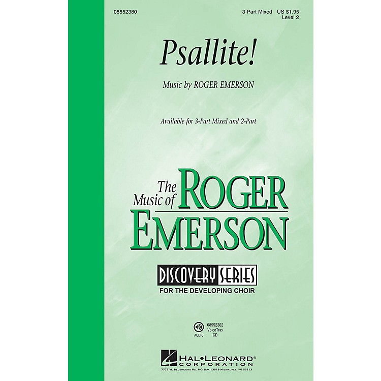 Hal LeonardPsallite! (Discovery Level 2) 3-Part Mixed composed by Roger Emerson