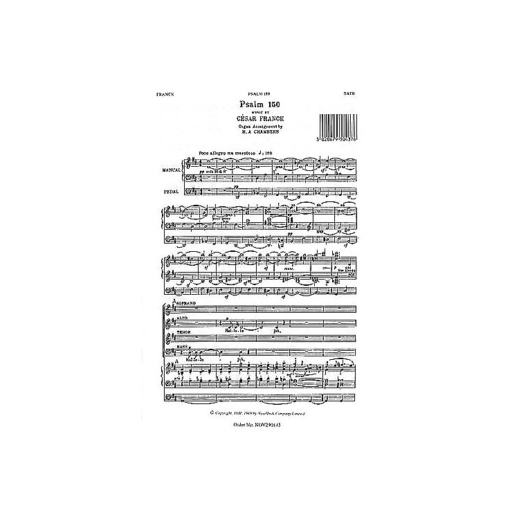NovelloPsalm 150 SATB Composed by Cesar Franck Arranged by H.A. Chambers
