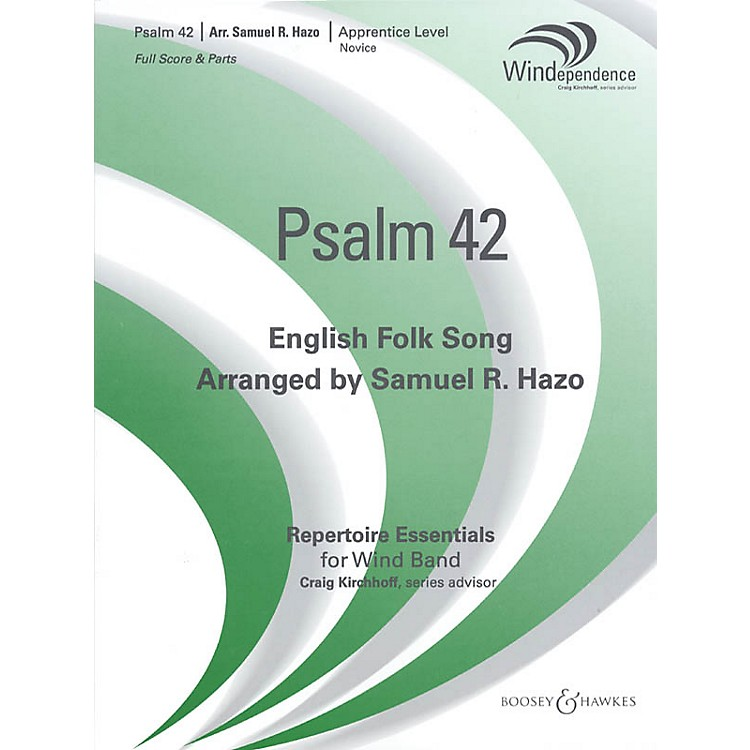 Boosey and Hawkes Psalm 42 (Score Only) Concert Band Level 2-3 Arranged by Samuel R. Hazo