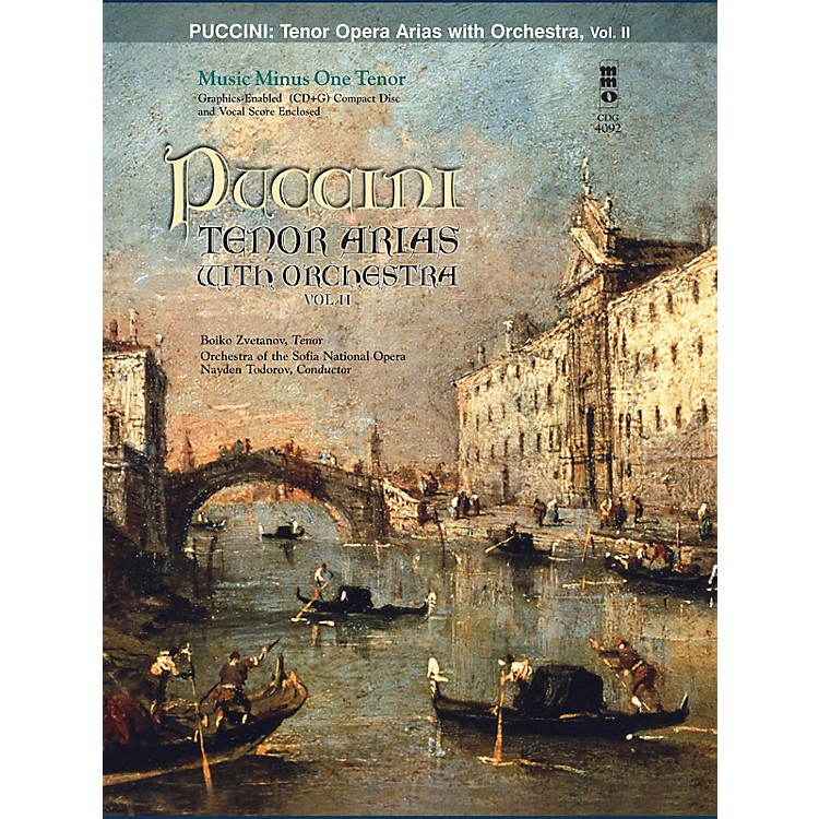 Music Minus OnePuccini Arias for Tenor and Orchestra - Vol. II Music Minus One Softcover with CD by Giacomo Puccini