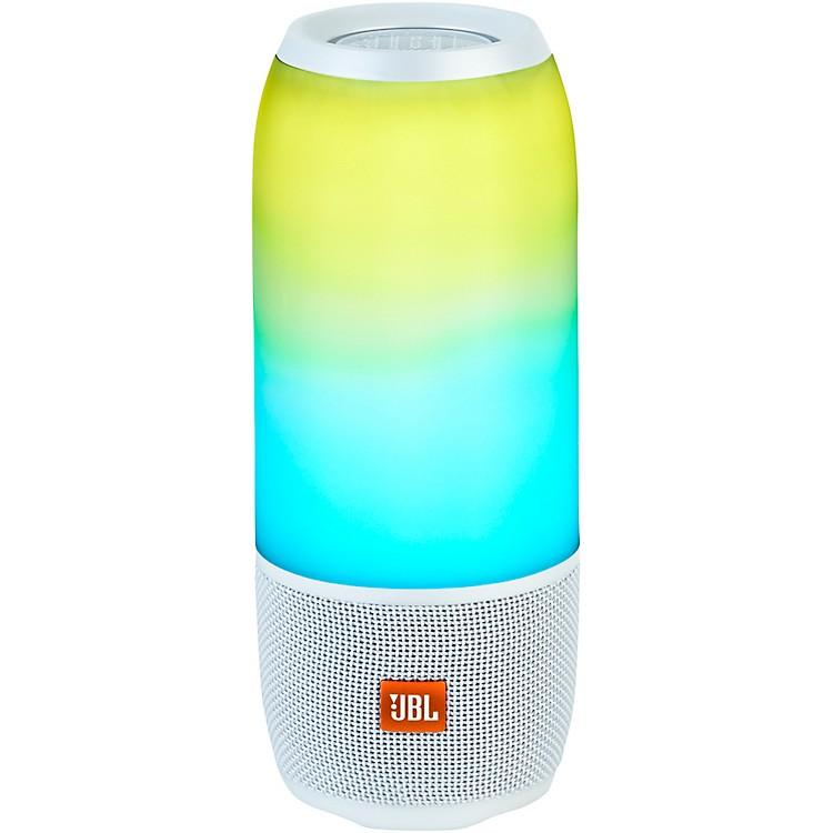 JBLPulse 3 Portable Speaker with Bluetooth, Built-in Battery, Mic and Built-in Light ShowWhite