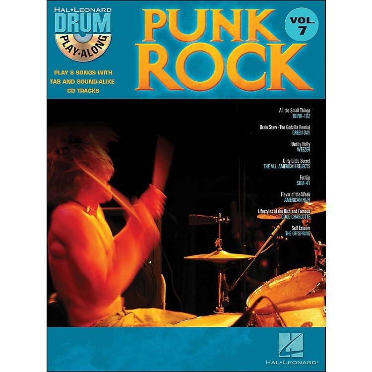 Hal Leonard Punk Rock Drum Play-Along Volume 7 Book/CD