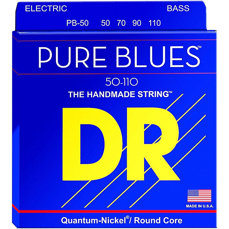 DR StringsPure Blues Heavy 4-String Bass Strings (50-110)