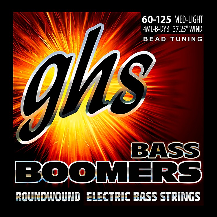 GHSPure Nickel Roundwound Bass Strings BEAD Tuning Med-Light 60-125