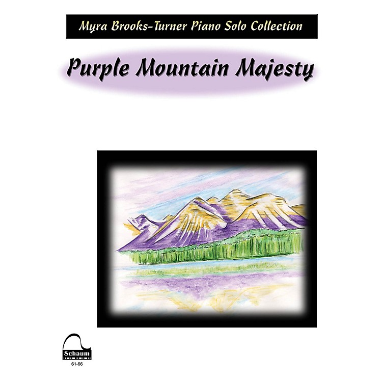 SCHAUM Purple Mountain Majesty Educational Piano Series Softcover
