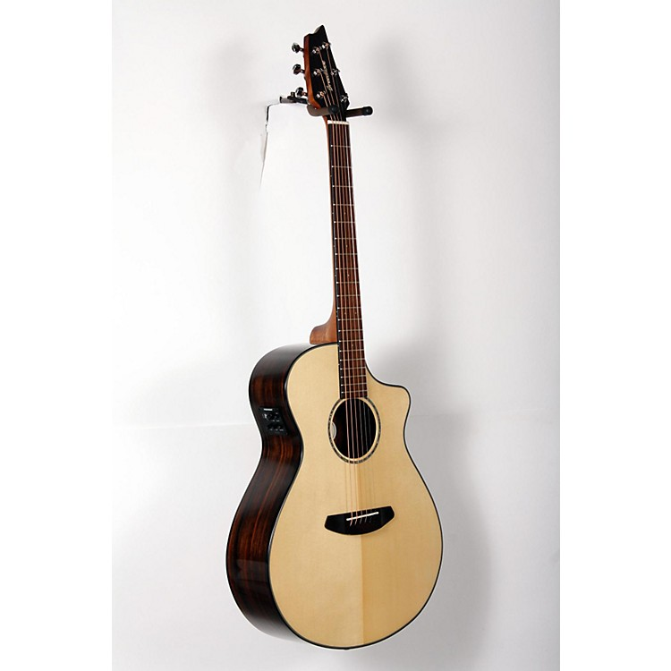 Breedlove Pursuit Concert Ebony Acoustic-Electric Guitar Natural 888365894904