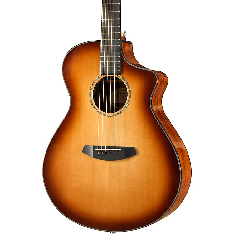 Breedlove Pursuit Concert Sitka-Koa Acoustic-Electric Guitar With Gig Bag Whiskey Burst