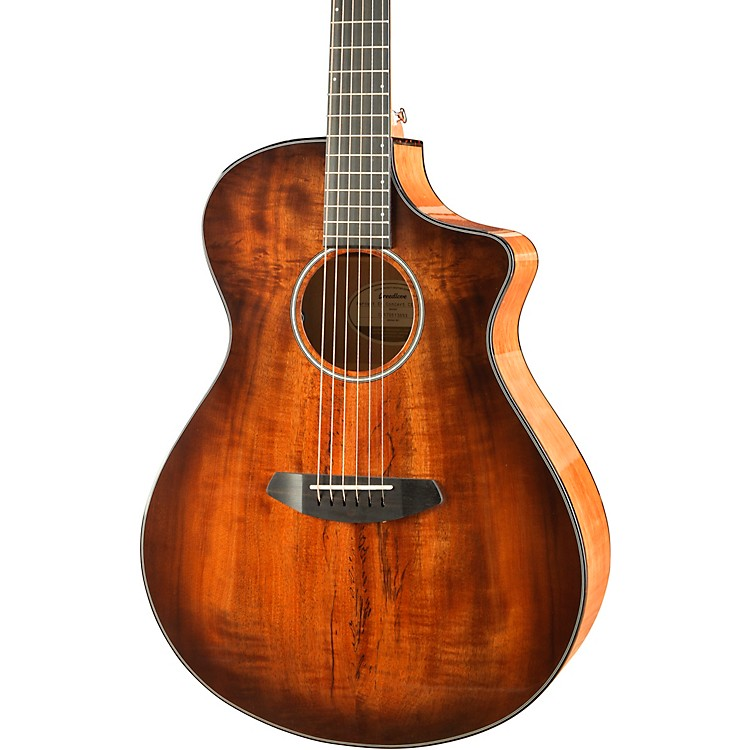BreedlovePursuit Exotic Concert Bourbon CE Myrtlewood - Myrtlewood Acoustic-Electric GuitarBourbon Sunset Burst