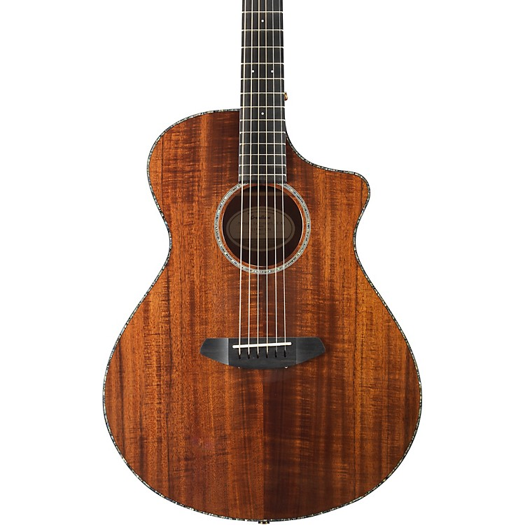 Breedlove Pursuit Exotic Concert with Koa Top Acoustic-Electric Guitar High Gloss Natural