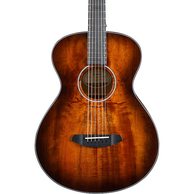 Breedlove Pursuit Exotic Concertina E Myrtlewood-Myrtlewood Acoustic-Electric Guitar Bourbon Burst