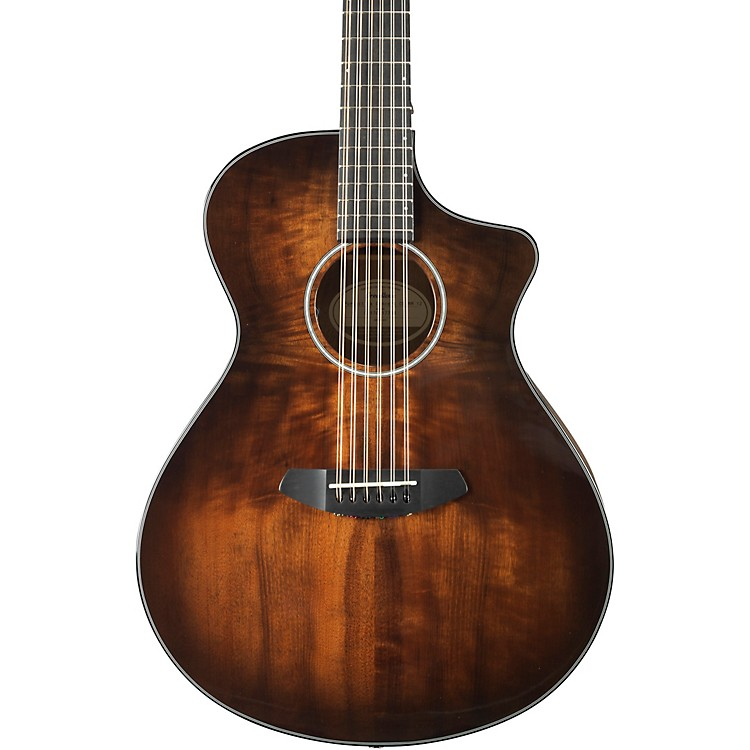 Breedlove Pursuit Exotic Series PSCN04CESSMYMY Concert 12-String Acoustic-Electric Guitar Gloss Sunburst