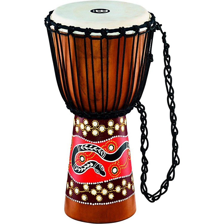 MeinlPython Series Rope Tuned Mahogany Djembe10 in.