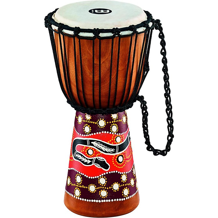 Meinl Python Series Rope Tuned Mahogany Djembe 8 in.