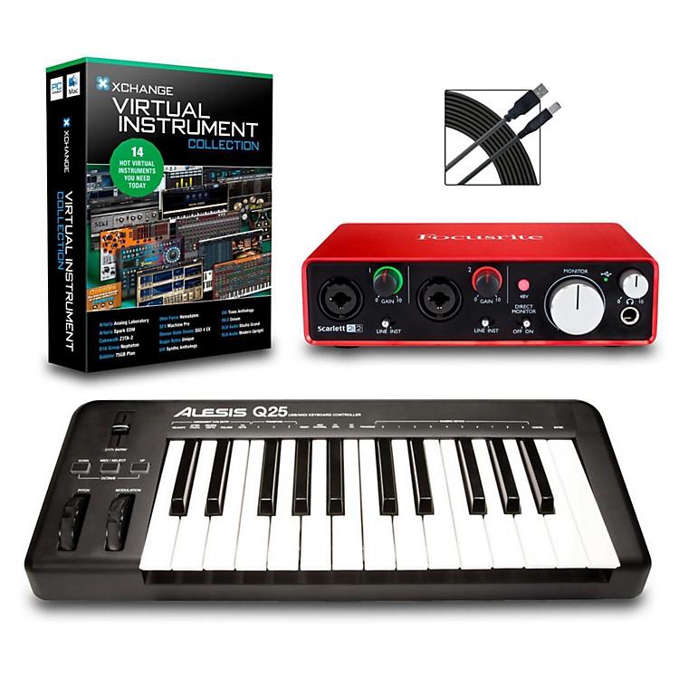 AlesisQ25 25-Key MIDI Keyboard Controller PackagesIntermediate Virtual Instrument Package