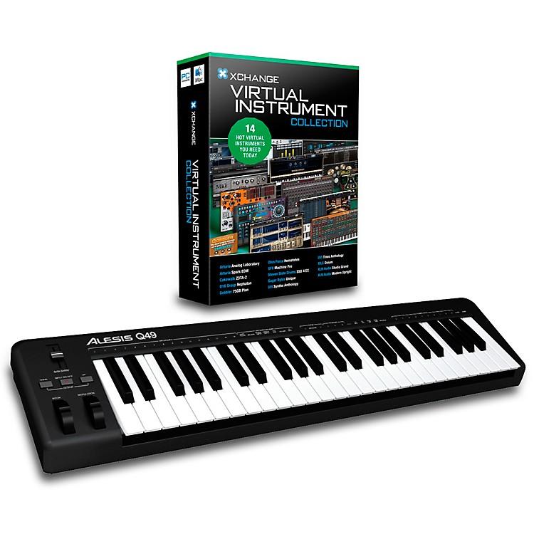 AlesisQ49 49-Key MIDI Keyboard Controller PackagesVirtual Instrument Package