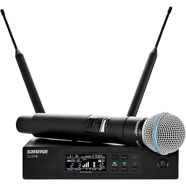Shure QLX-D Digital Wireless System with Beta 58 Microphone Band X52
