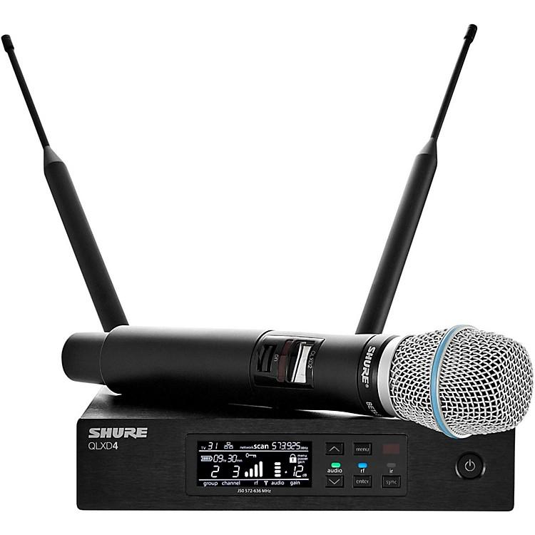 ShureQLX-D Digital Wireless System with Beta 87A Condenser MicrophoneBand J50