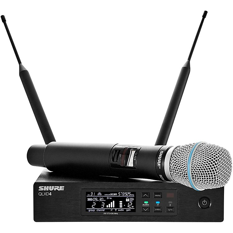 ShureQLX-D Digital Wireless System with Beta 87A Condenser MicrophoneBand X52