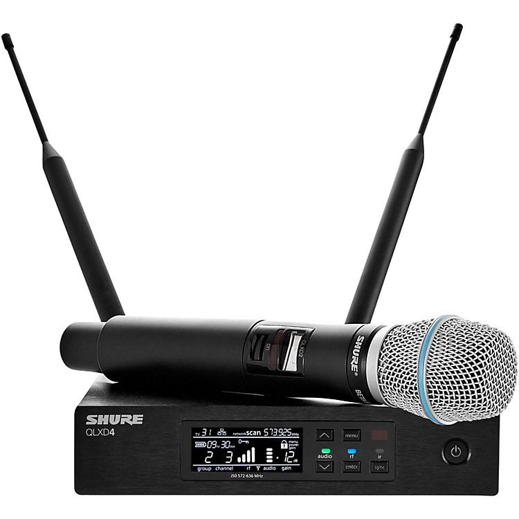 ShureQLX-D Digital Wireless System with Beta 87A Condenser MicrophoneBand H50