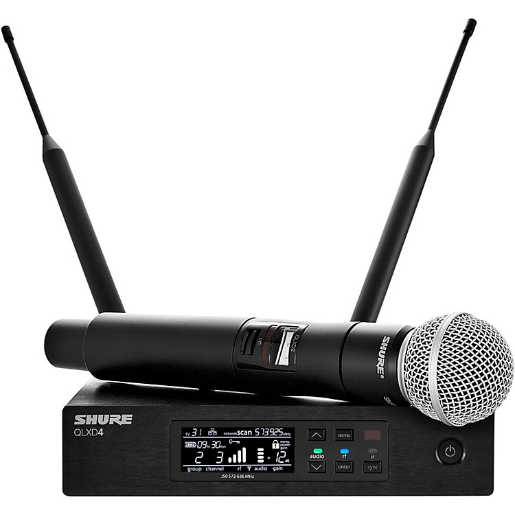 Shure QLX-D Digital Wireless System with SM58 Dynamic Microphone Band H50