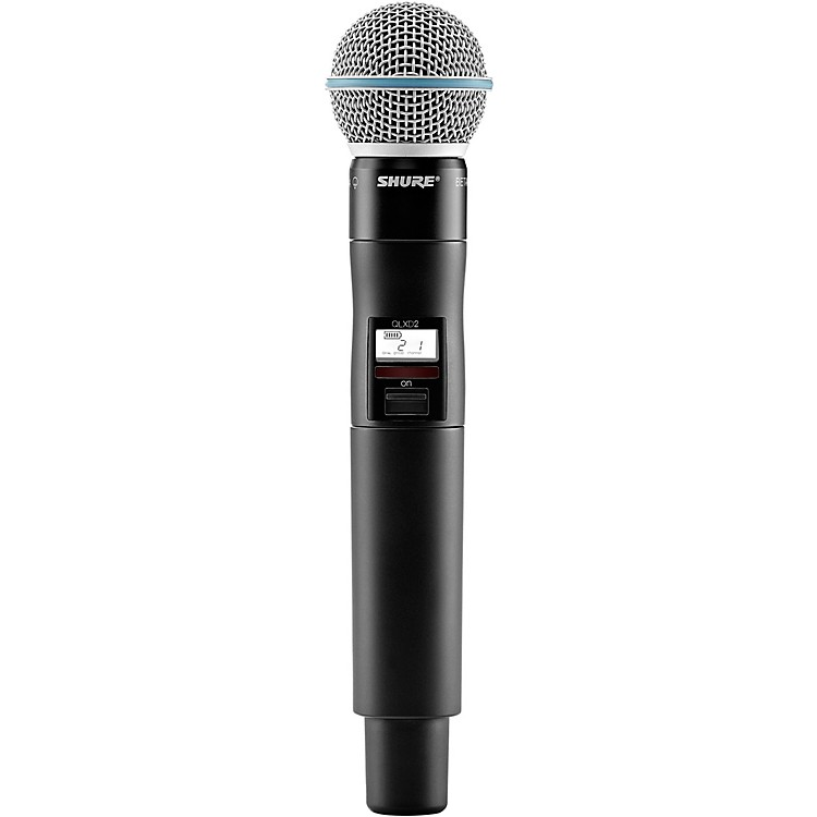 ShureQLXD2/B58=-H50 Wireless Handheld Transmitter with Beta 58A Microphone, Band H50Band H50