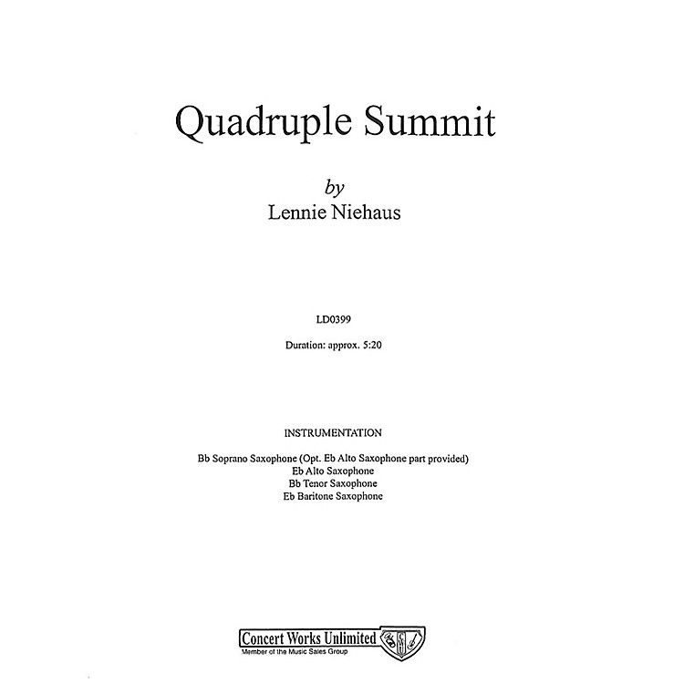 Hal Leonard Quadruple Summit Saxophone