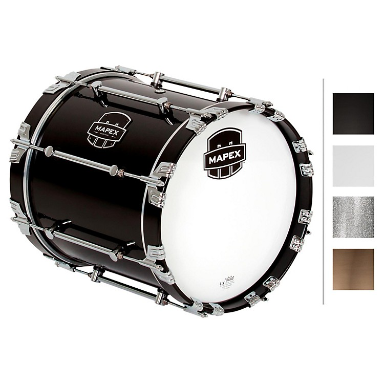 Mapex Quantum Bass Drum 14 x 14 in. Gloss White/Gloss Chrome Hardware