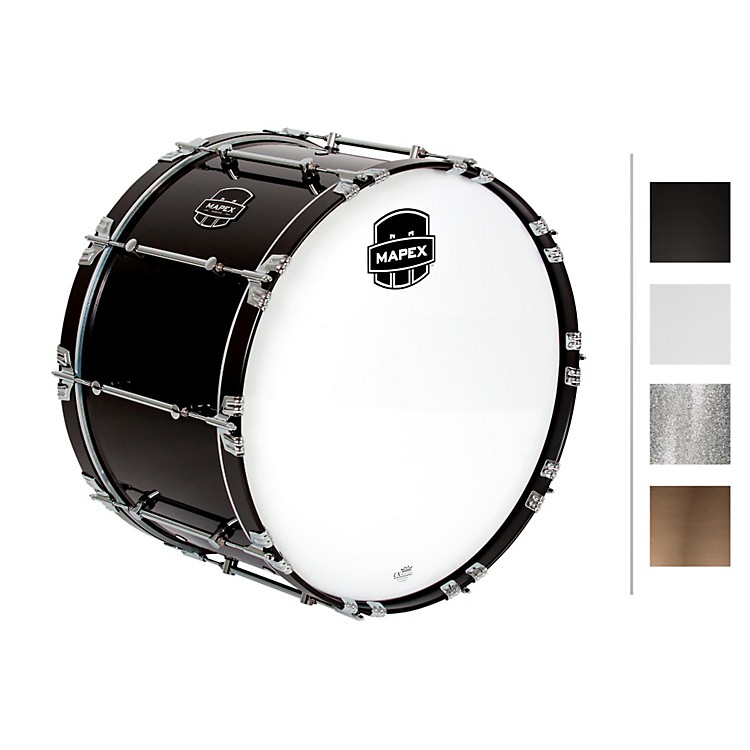 Mapex Quantum Bass Drum 24 x 14 in. Gloss Black/Gloss Chrome Hardware