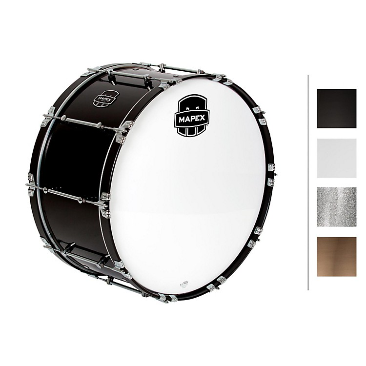 MapexQuantum Bass Drum28 x 14 in.Gloss White/Gloss Chrome Hardware