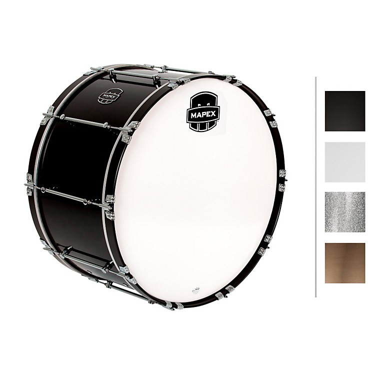 MapexQuantum Bass Drum30 x 16 in.Silver Diamond/Gloss Chrome
