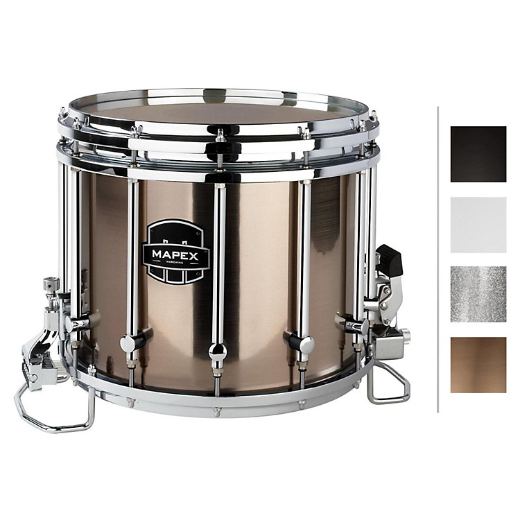 MapexQuantum XT Snare Drum14 x 12 in.Grey Steel/Gloss Chrome Hardware