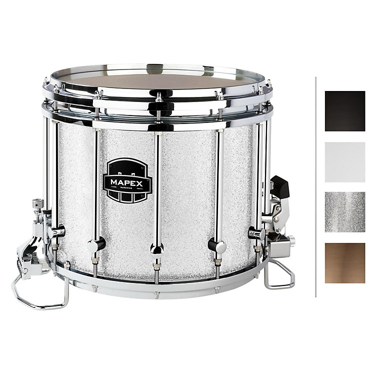 Mapex Quantum XT Snare Drum 14 x 12 in. Silver Diamond/Gloss Chrome
