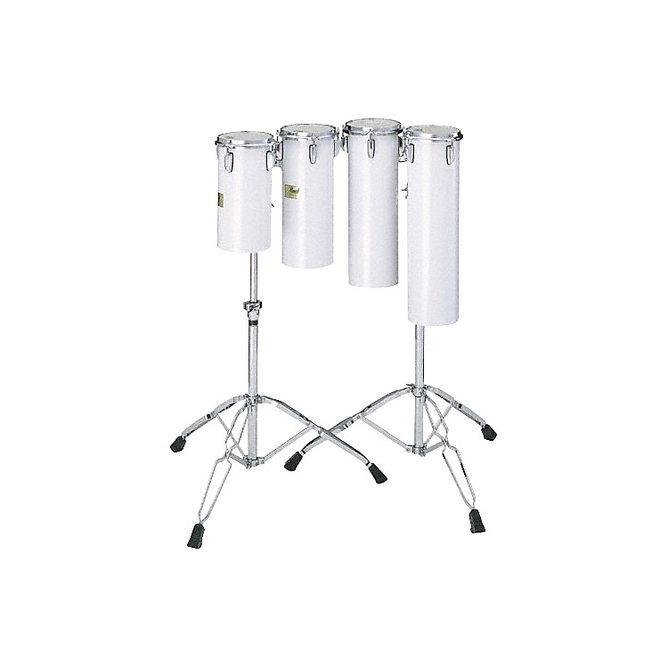 Pearl Quarter Tom Sets Concert Drums 18 x 6 and 21 x 6 in. with Stand In Artic White
