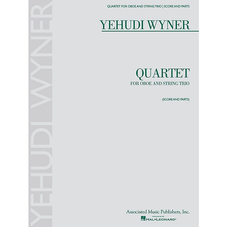 AssociatedQuartet (for Oboe and String Trio - Score and Parts) Ensemble Series by Yehudi Wyner