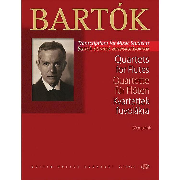 Editio Musica BudapestQuartets for Flutes EMB Series Softcover Composed by Béla Bartók